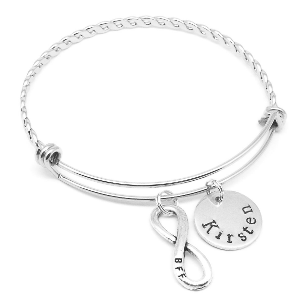BBF best friends infinity name bracelet personalised jewellery